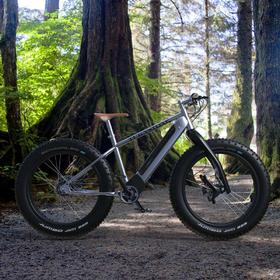 Titanium-framed e-bike concept design