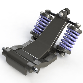 Detachable quad-chairlift grip mechanism