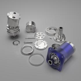 Bent axis hydraulic motor parts