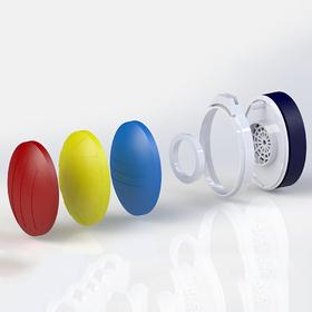 Customizable 3D-printed headphones