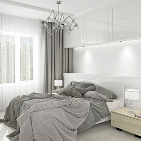 Bedroom lighting fixture design