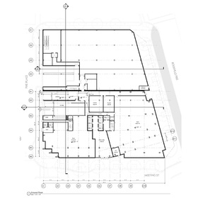 Office tower site plan