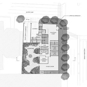 Apartment building site plan
