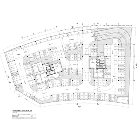 Commercial and office building basement parking