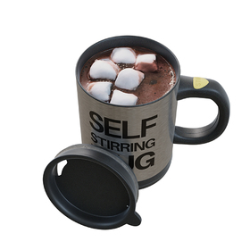 Self-stirring mug design