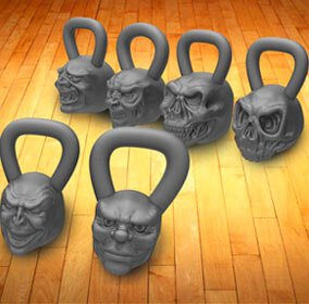 Tough-guy kettle bell weights